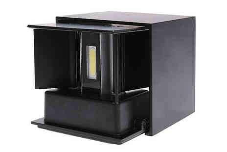 EClife Style - Modern 12W Led Waterproof Wall Cube Lamp Choose from 2 Colours - Save 68%
