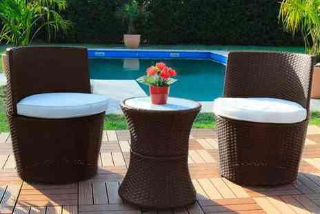 EveMotion GmbH - Three piece rattan garden furniture set choose between black, brown and grey while - Save 50%