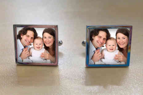We Personalize - Pair of personalised square cufflinks - Save 50%