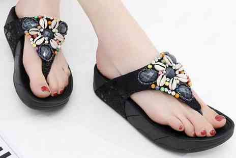 Wow What Who - Pair of sea shell sandals choose from three colours - Save 68%