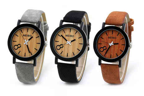 Magic Trend - Woodgrain effect watch choose from three colours - Save 67%