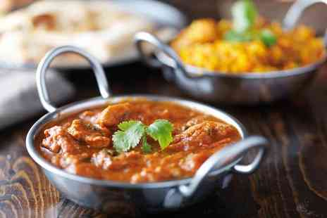 The Ballroom - Two course Indian dining for two with a glass of Prosecco or bottle of beer each - Save 51%
