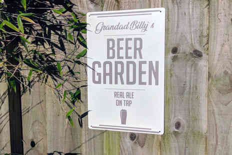 Your Perfect Canvas - Personalised garden sign - Save 80%