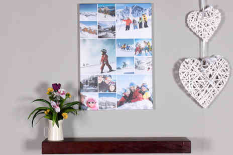 Your Perfect Canvas - A2 canvas collage or A1 canvas upload your own photos - Save 82%