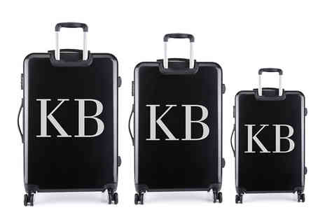 Personalised Gifts Market - Personalised suitcase sticker or Set of three stickers - Save 70%