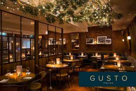 Gusto Italian - Two Course Meal for Two - Save 0%