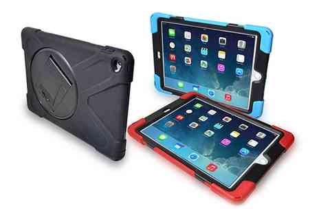 Groupon Goods Global GmbH - Rugged Tough Case with Build In Screen Protector for iPad 2, 3, 4, iPad Air, iPad Air 2 or iPad Mini in Choice of Colour - Save 0%