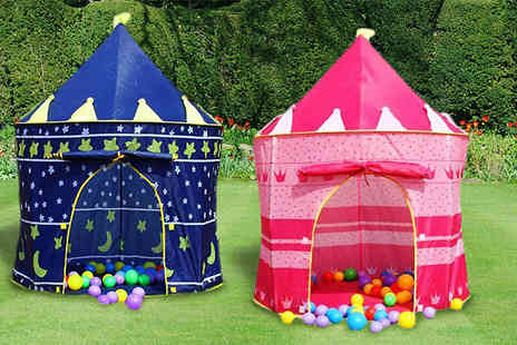 Fusion - Childrens Pop Up Castle Playhouse Choose from 2 Colours - Save 50%