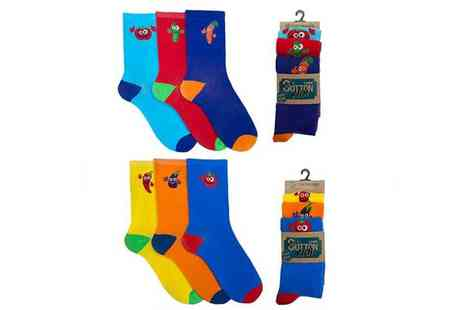 Avant Garde - Three pack of mens vegetable design novelty socks - Save 80%