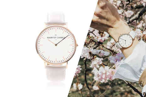 Harvey James - Unisex rose gold watch choose from three designs - Save 80%