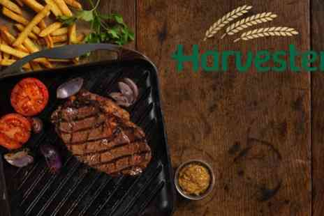 Harvester - Two Course Steak, Ribs or Chicken Meal and Unlimited Salad for Two - Save 51%