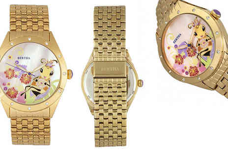 Ideal Deal - Bertha Mother Of Pearl Watch Choose from Six Colours - Save 92%