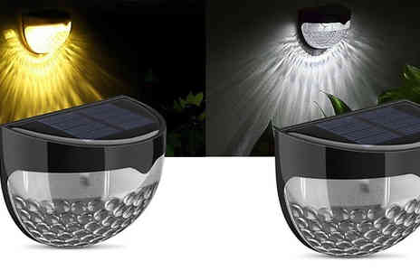 EClife Style - Solar Powered Garden Sensor Light in Two Colours - Save 65%