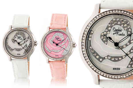 Sophie & Freda - Luxury ladies Monaco watch choose from seven designs - Save 86%