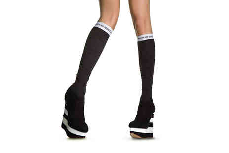 Avant Garde - Pair of House of Holland knee high socks - Save 87%