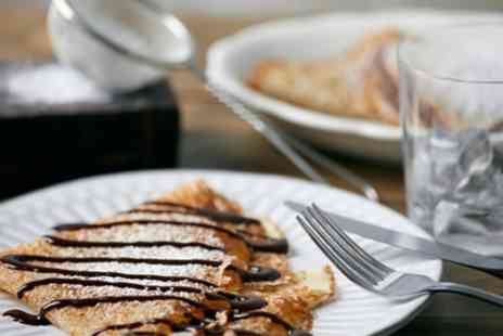 Le Crepier Papin - Sweet or Savoury Crepe with Drink for Two - Save 41%