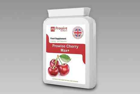 Prowise - Three month supply of cherry max plus health and recovery capsules - Save 0%