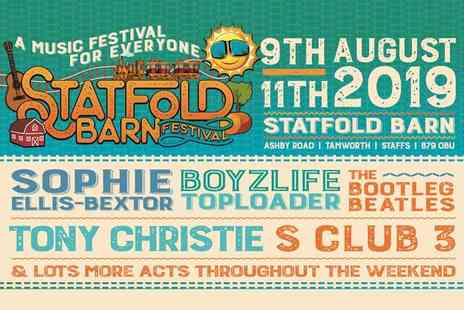 Statfold Barn Festival - One day ticket for one person to Statfold Barn Festival - Save 42%