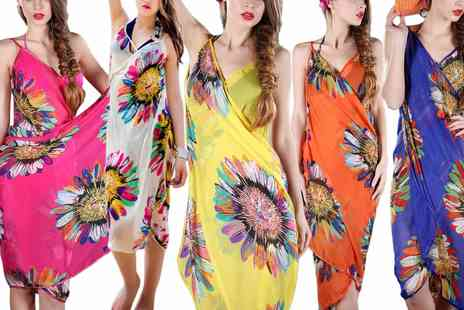 Groupon Goods Global GmbH - Up to Five Floral Bikini Cover Up Kaftans - Save 0%
