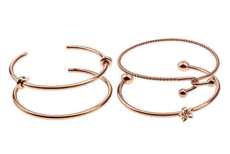 Emily Westwood - Rse gold bangle choose from four designs - Save 71%