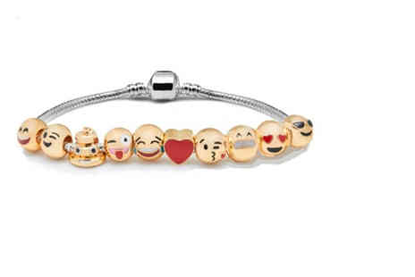 Deals Direct - Emoji charm bracelet - Save 0%