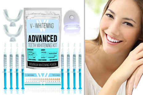 V Whitening - Six gel teeth whitening kit - Save 74%