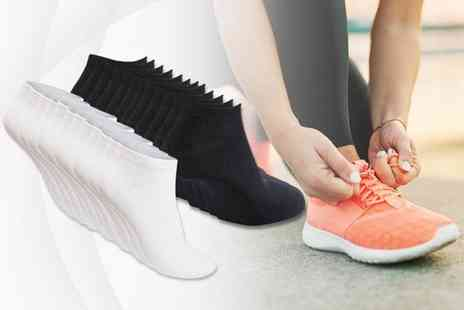 Cool Clobber - 12 pairs of trainer socks choose between black and white - Save 79%