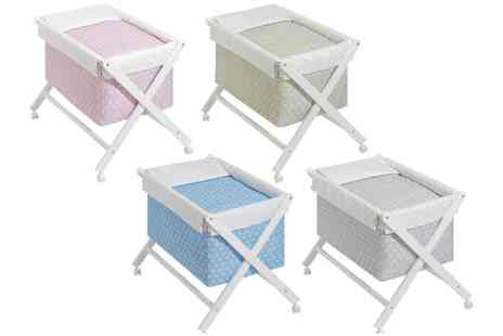 Groupon Goods Global GmbH - Baby Crib with Scissor Frame and Bedding With Free Delivery - Save 0%