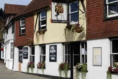 King and Queen Pub and Restaurant - Two or Three Course Meal for Two or Four - Save 58%