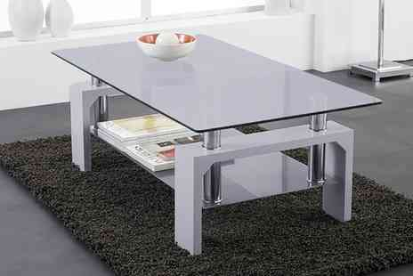 Groupon Goods Global GmbH - Rectangular Glass Coffee Table in Choice of Colour - Save 0%