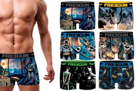 Groupon Goods Global GmbH - Pack of Three or Six Assorted Batman Freegun Boxers - Save 0%