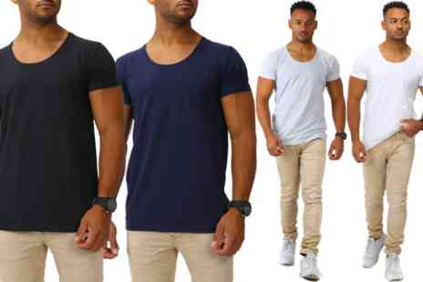 Groupon Goods Global GmbH - Joe Franks Mens Tshirt Choose from Two, Three or Five Pack - Save 0%