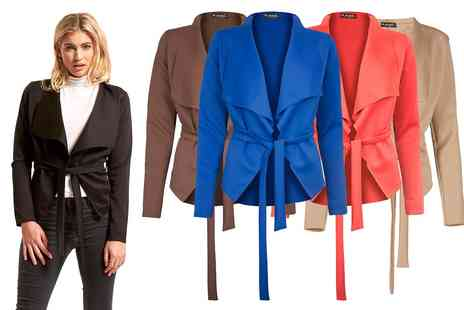 Groupon Goods Global GmbH - Waterfall Belted Blazer - Save 0%