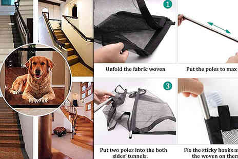 Wish Whoosh Offers - Folding Mesh Dog Door Gate Choose from Sizes - Save 85%