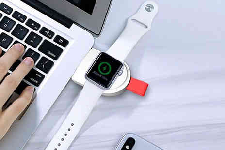 J Star Direct - Portable Keychain Apple Watch Charger Choose from Two Colours - Save 67%