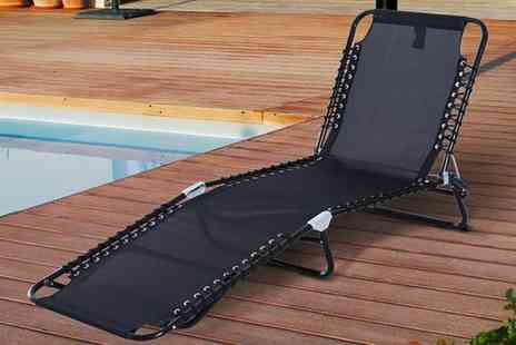 Mhstar - Folding sun lounger choose from Three colours - Save 60%