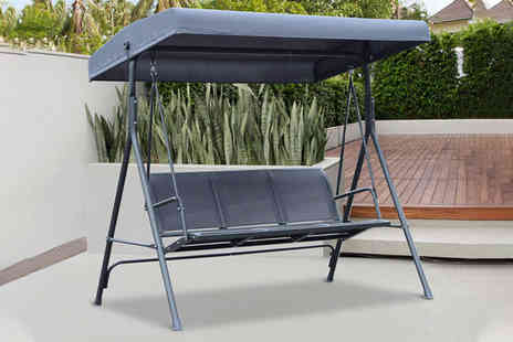 Mhstar - Grey Outsunny three seater swing chair - Save 56%