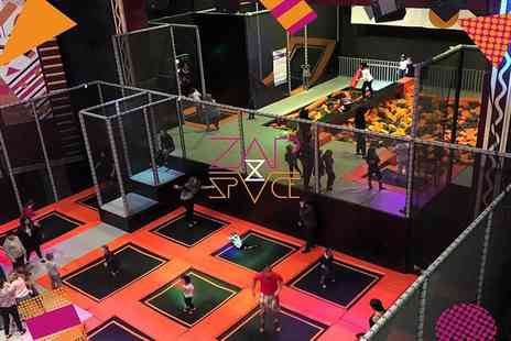 ZAPspace Trampoline Park - One hour freestyle jump session for two people - Save 50%
