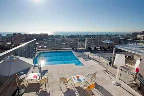 Ilunion Barcelona - Four Star Modern Hotel with Panoramic Rooftop Pool for two - Save 79%