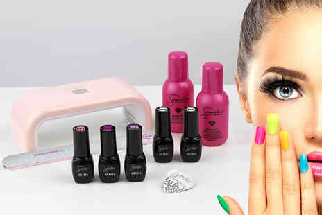 Deals Direct - Hybrid gel nail polish And accessories kit with UV lamp With includes 10 pieces - Save 0%
