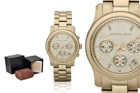 Ticara Watches - Michael Kors MK5055 ladies gold toned Runway chronograph watch - Save 54%