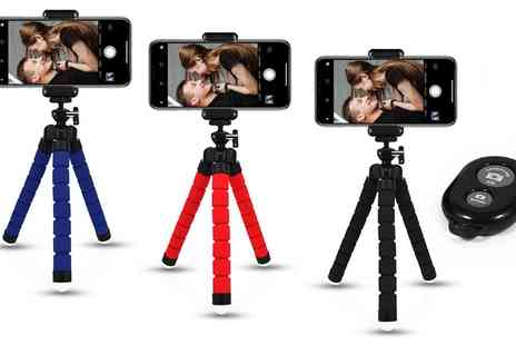 Groupon Goods Global GmbH - One, Two or Three Tripod Sets for iPhone with Bluetooth Clickers - Save 0%