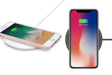 Groupon Goods Global GmbH - Apachie 10W Wireless Qi Charger for iPhone 8, 8 Plus, X and Samsung Phones - Save 0%