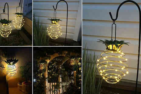 Yellogoods - 2 Solar Led Pineapple Lanterns - Save 58%