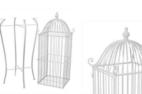 Garden & Camping - Angelica Ornamental Bird Cage with Stand - Save 55%