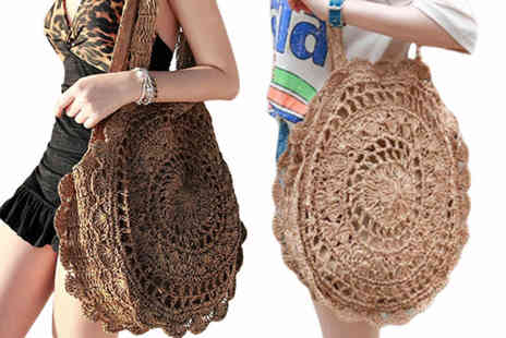Blu Fish - Large Bohemian-style straw bag choose from four colours - Save 76%