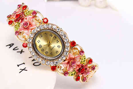 Magic Trend - Foral gem watch - Save 70%