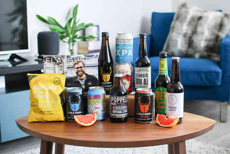 Flavourly - Craft beer hamper including a mixed selection of ten craft beers, a tasty snack and a magazine - Save 60%
