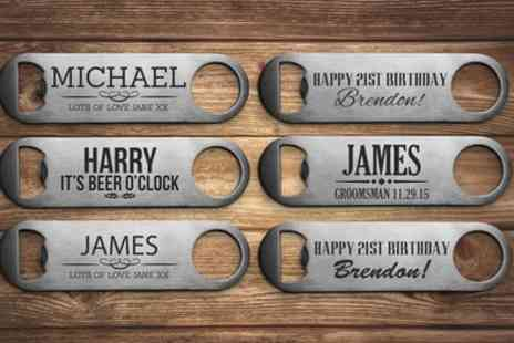 Fabness - Up to Three Personalised Bottle Openers - Save 50%