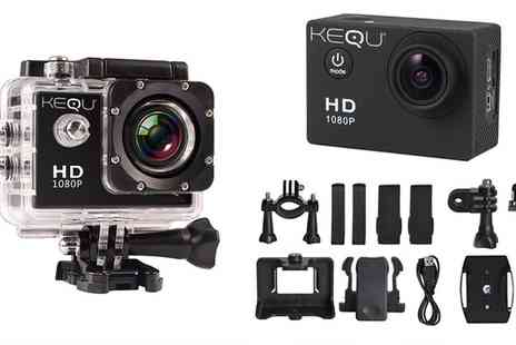 Groupon Goods Global GmbH - Kequ HD 1080p Water Resistant Action Camera - Save 0%